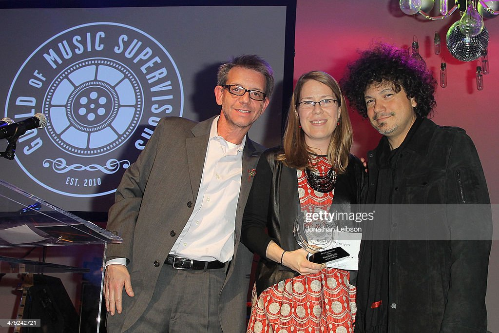 Maura Duval Griffin and Asdru Sierra attend the 4th Annual Guild of Music Supervisors Awards at Mack Sennett Studios on February 26 2014 in Los...