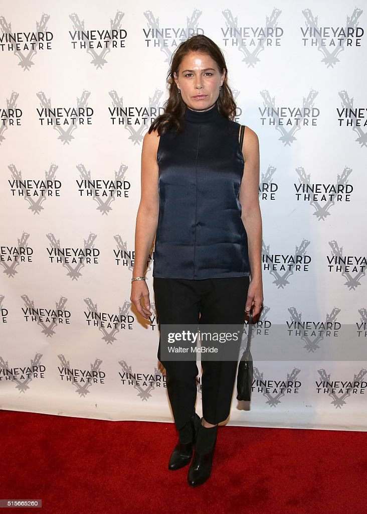 Maura Tierney attends the cocktail party for the Vineyard Theatre 2016 Gala at the Edison Ballroom on March 14 2016 in New York City