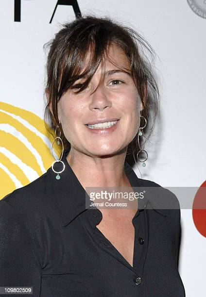 Maura Tierney during Fran Drescher Celebrates Launch of CancerSchmancerorg Presented by Borgata Atlantic City at Sapa Restaurant in New York New York...