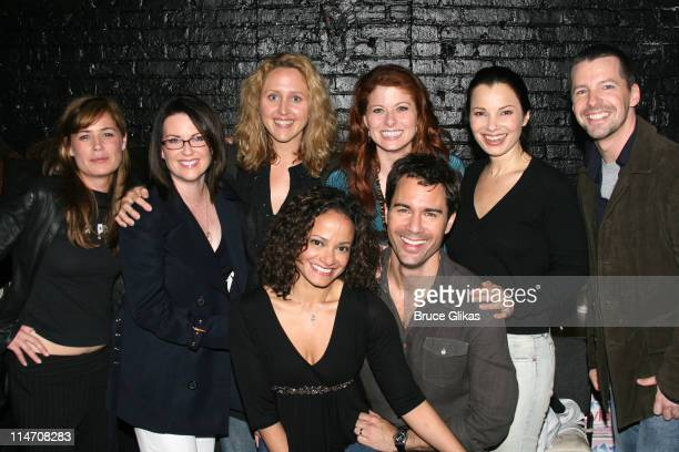 Maura Tierney Megan Mullally Brooke Smith Judy Reyes Debra Messing Eric McCormack Fran Drescher and Sean Hayes