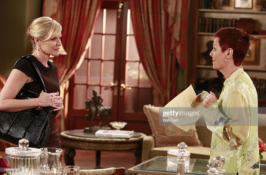 HOSPITAL - Maura West (Ava Jerome) and Jane Elliot (Tracy) in a scene that airs the week of May 27, 2013 on ABC's 'General Hospital.' 'General Hospital' airs Monday-Friday (2:00 p.m. - 3:00 p.m., ET) on the ABC Television Network. GH13 MAURA