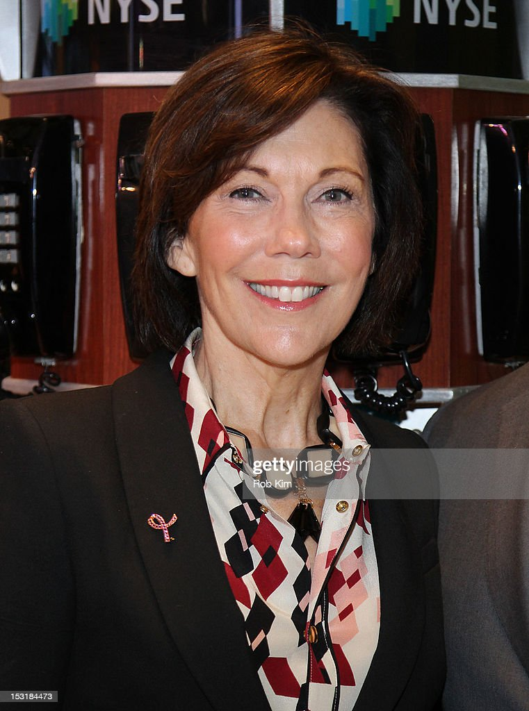 Maureen Case, president of luxury cosmetic brands La Mer, Jo Malone and Bobbi Brown visits the New York Stock Exchange in celebration of the 20th Anniversary of the Estee Lauder Companies' Breast Cancer Awareness Campaign on October 1, 2012 in New York City.