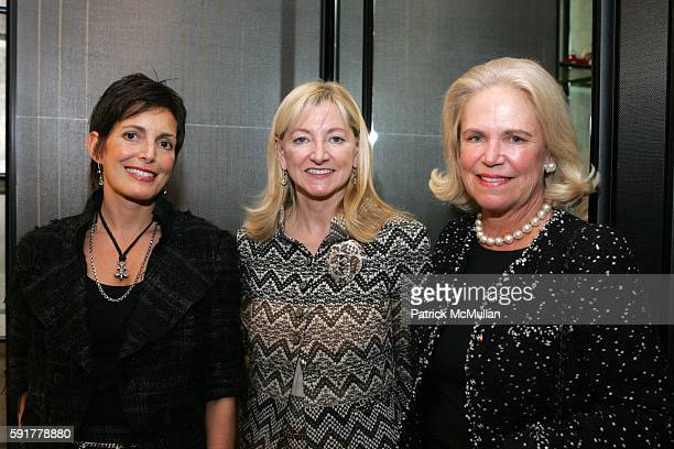 Maureen Chiquet Barbara Cirkva and Susan Burke attend The Camellia Luncheon Sponsored by Chanel to benefit The New York Botanical Garden at Chanel on...