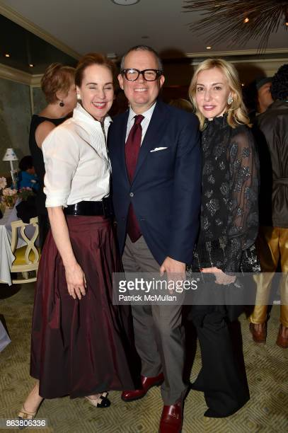 Maureen Footer Alex Papachristidis and Cathy Buxton attend the launch of Second Bloom Cathy Graham's Art of the Table hosted by Joanna Coles and...