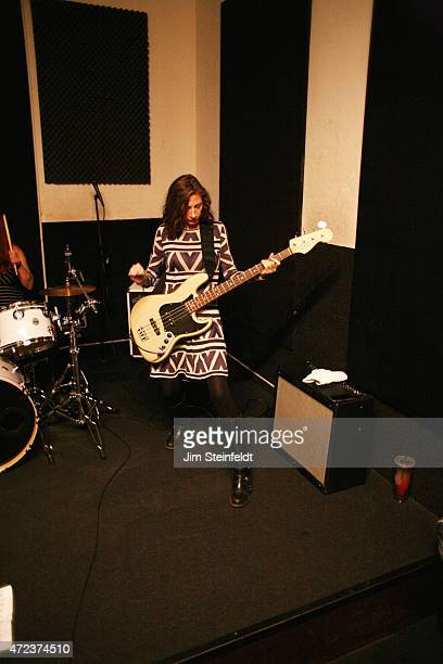 Maureen Herman of the rock band Babes in Toyland rehearses for their tour at Amp Rehearsal in N Hollywood California on November 16 2014