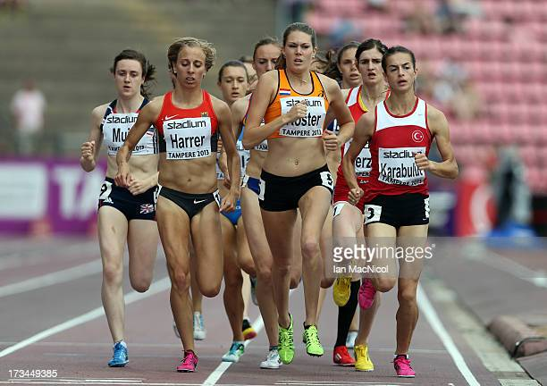 Maureen Koster of Netherlands leads the Women's 1500m Final during day four of The European Athletics U23 Championships 2013 on July 14 2013 in...