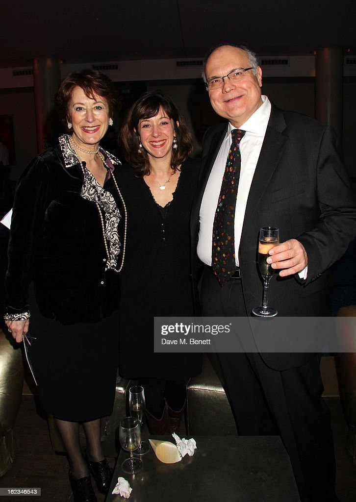 Maureen Lipman, Amy Rosenthal and Mike McShane attend 'The Tailor-Made Man' press night after party at the Haymarket Hotel on January 21, 2013 in London, England.