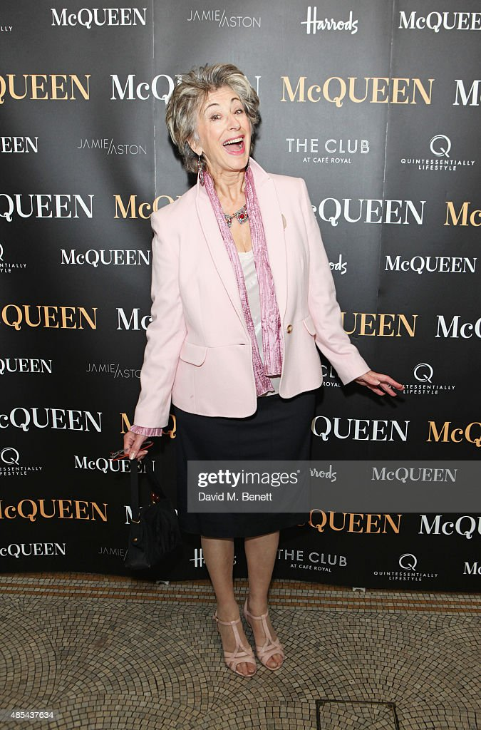 Maureen Lipman attends the after party following the press night performance of 'McQueen' at The Club at Cafe Royal on August 27, 2015 in London, England.