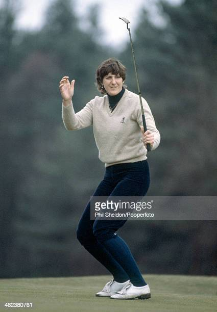 Maureen Madill of Northern Ireland reacts during the Avia Foursomes golf competition held at the Berkshire Golf Club in Ascot circa 1983