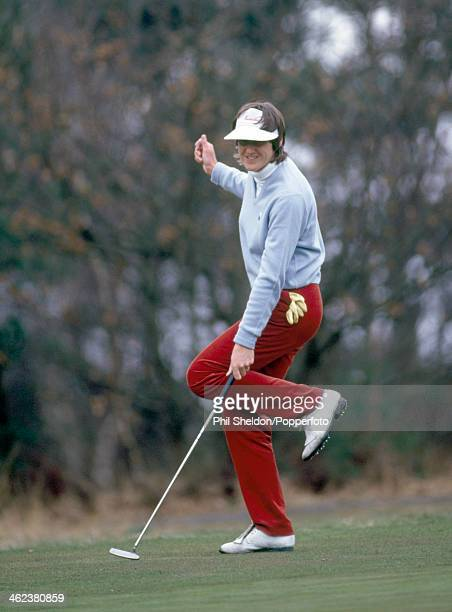 Maureen Madill of Northern Ireland reacts during the Avia Foursomes golf competition held at the Berkshire Golf Club in Ascot circa 1986
