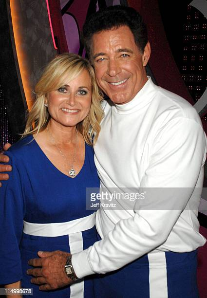 Maureen McCormick and Barry Williams during 5th Annual TV Land Awards Backstage at Barker Hangar in Santa Monica California United States