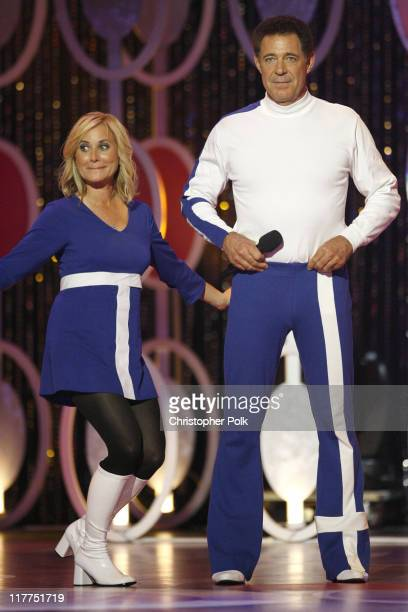 Maureen McCormick and Barry Willliams perform during 5th Annual TV Land Awards Show at Barker Hangar in Santa Monica California United States