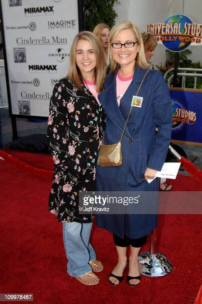 Maureen McCormick and daughter Natalie during Cinderella Man Los Angeles Premiere at Gibsob Amphitheater in Universal City California United States