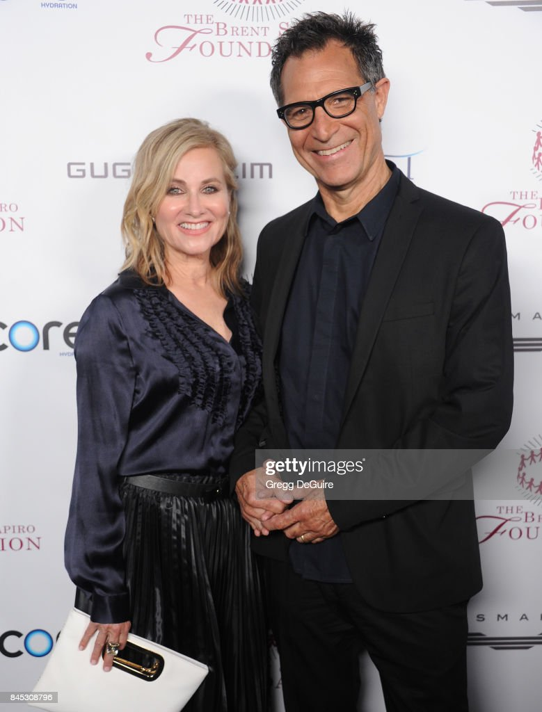 Maureen McCormick and husband Michael Cummings arrive at the annual Brent Shapiro Foundation For Alcohol and Drug Prevention Summer Spectacular at a Private Residence on September 9, 2017 in Beverly Hills, California.