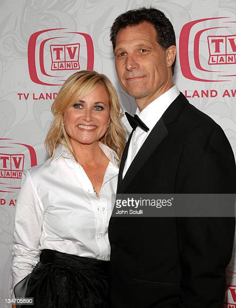 Maureen McCormick and husband Michael Cummings during 5th Annual TV Land Awards Arrivals at Barker Hanger in Santa Monica CA United States