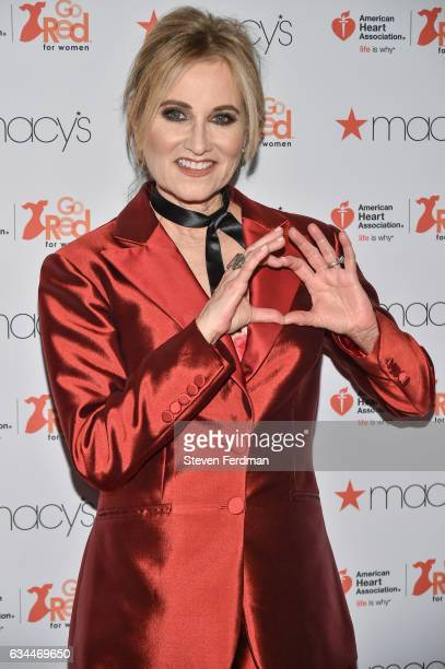 Maureen McCormick arrives at American Heart Association's Go Red For Women Red Dress Collection during New York Fashion Week at Hammerstein Ballroom...