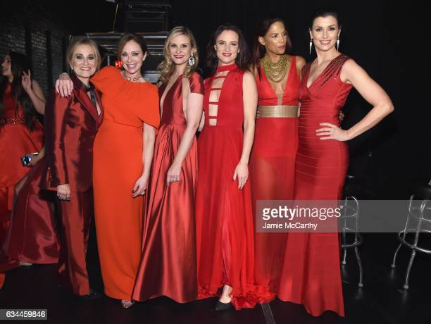 Maureen McCormick Lauren Holly Bonnie Somerville Juliette Lewis Veronica Webb and Bridget Moynahan attend the American Heart Association's Go Red For...