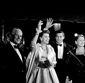 Maureen O'Hara attends the movie premier for 'Tall Man' at the Grauman's Chinese Theatre in Los AngelesCA