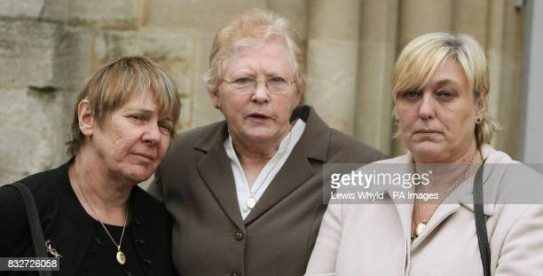 Maureen Shearer mother of Lt Richard Shearer Bridie Spicer mother of Pte Leon Spicer and Sue Smith mother of Pte Phillip Hewett outside Oxfordshire...