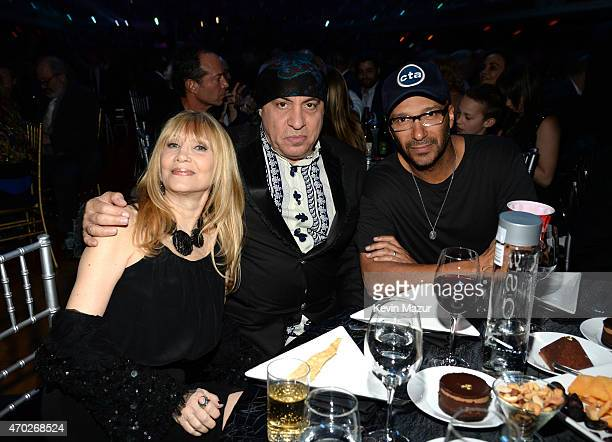 Maureen Van Zandt Steve Van Zandt and Tom Morello attend the 30th Annual Rock And Roll Hall Of Fame Induction Ceremony at Public Hall on April 18...