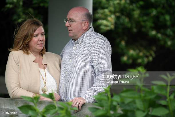 Maureen Walgren and her husband Doug near the offices of Ekl Williams and Provenzale law firm on May 17 2017 in Lisle Ill The couple had earlier...