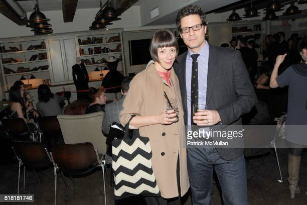 Mauri Weakley and Greg Macek attend 'Forgotten Fashion' book party honoring the release of Let's Bring Back by Lesley MM Blume at Library on November...