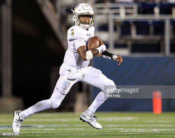 Maurice Alexander of the FIU Panthers carries during the first half of the game against the Maryland Terrapins at FIU Stadium on September 9 2016 in...