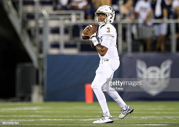 Maurice Alexander of the FIU Panthers in action during the game against the Maryland Terrapins at FIU Stadium on September 9 2016 in Miami Florida