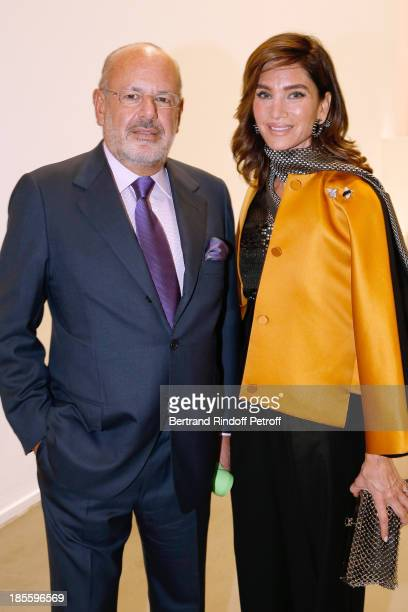 Maurice Amon and his wife Tracey Amon attend the the dinner of the friends of the 'Musee d'Art Moderne de la ville de Paris' on October 22 2013 in...
