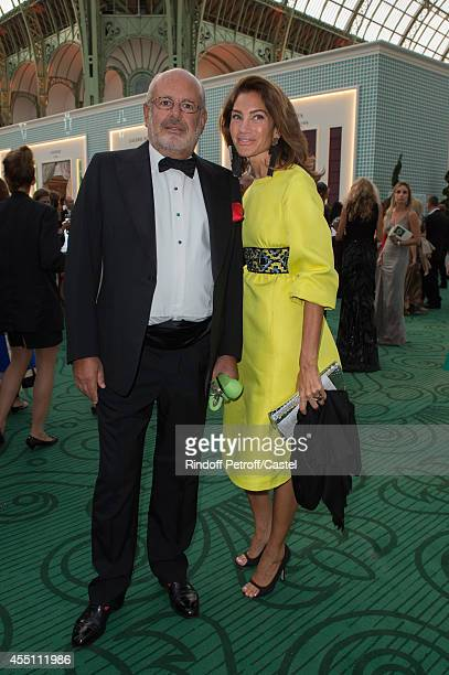 Maurice Amon and his wife Treacy attend the 27th 'Biennale des Antiquaires' Pre Opening at Le Grand Palais on September 9 2014 in Paris France