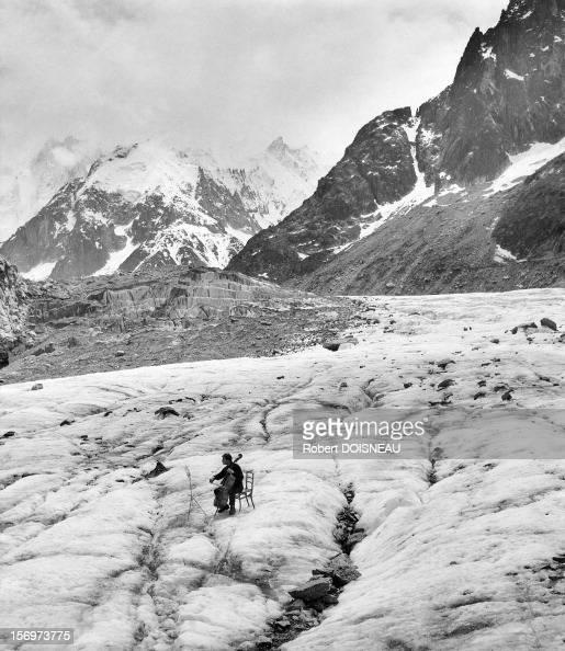 Maurice Baquet virtuoso cellist 1957 in Chamonix France