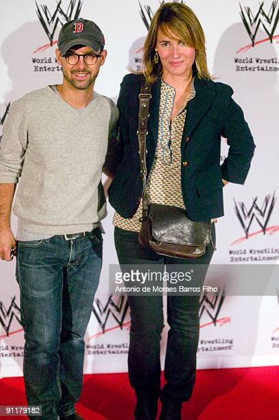Maurice Barthelemy and Judith Godreche attend WWE SmackDown at Palais des Sports on September 26 2009 in Paris France