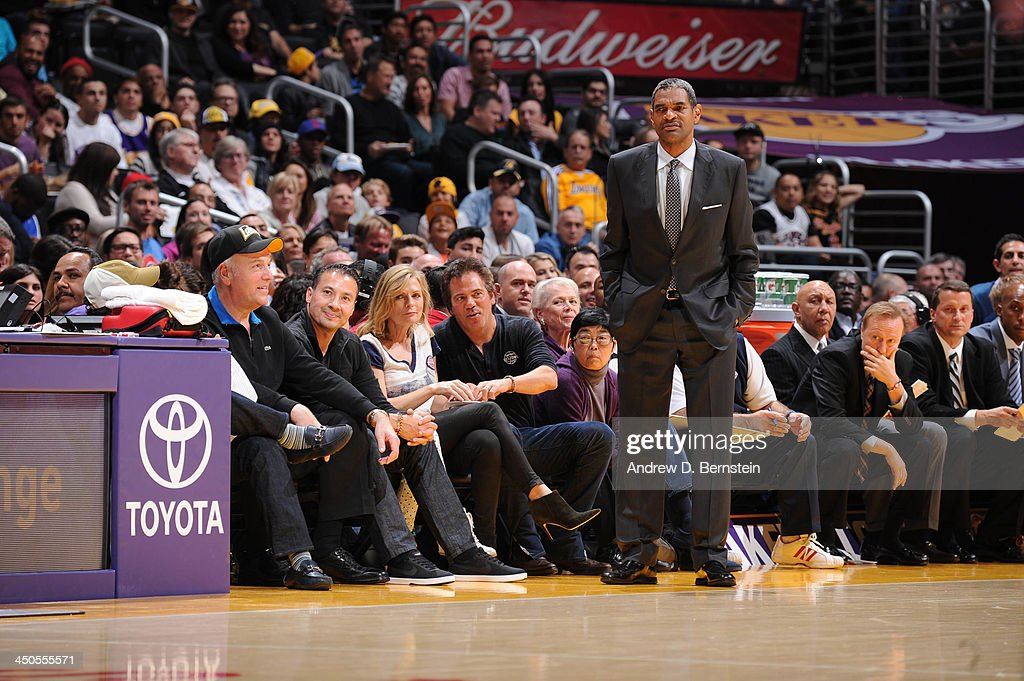 <a gi-track='captionPersonalityLinkClicked' href=/galleries/search?phrase=Maurice+Cheeks&family=editorial&specificpeople=209376 ng-click='$event.stopPropagation()'>Maurice Cheeks</a> of the Detroit Pistons looks on against the Los Angeles Lakers at Staples Center on November 17, 2013 in Los Angeles, California.