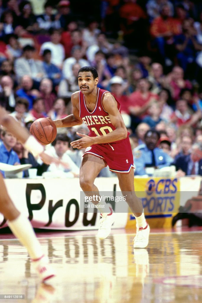 ... Maurice Cheeks 10 of the Philadelphia 76ers dribbles circa 1988 at the  Summitt in Houston ... 6fa02dcbf