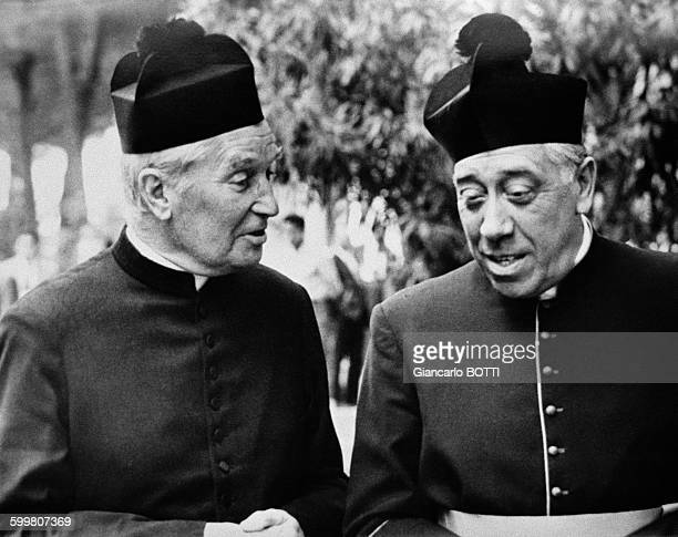 Maurice Chevalier and Fernandel In France circa 1960