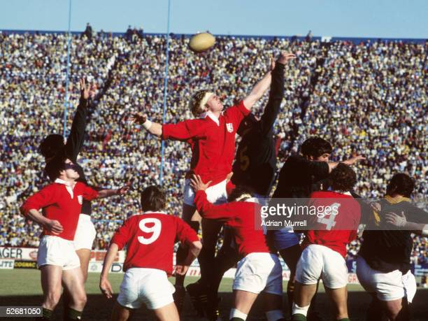 Maurice Colclough of the Lions competes at a lineout during the test series between South Africa and the British and Irish Lions in South Africa in...