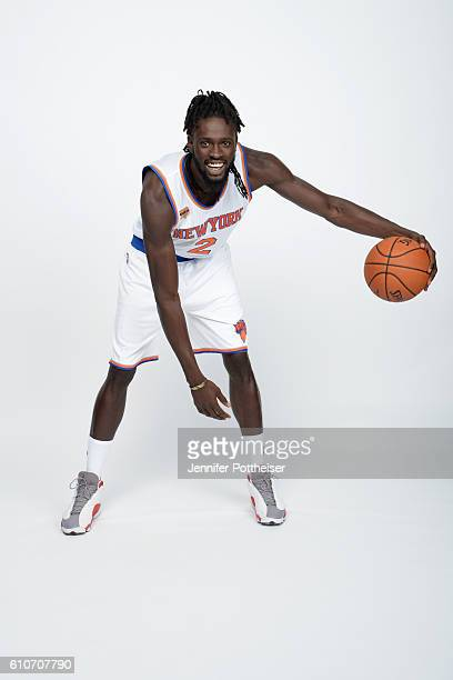 Maurice Daly Ndour of the New York Knicks poses for a portrait during media day at the Ritz Carlton in White Plains New York on September 26 2016...