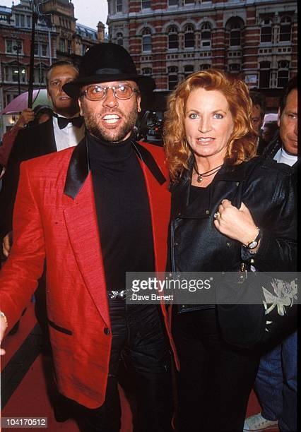 Maurice Gibb Of The Bee Gees And Wife At Frease 1st Night Mauricegibbretro