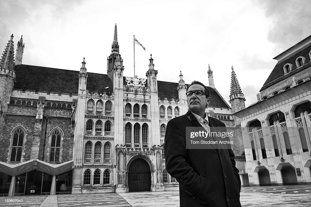 Maurice Glasman who campaigns against the Corporation of London photographed outside the Guildhall in the heart of the financial district, London.