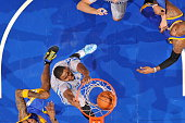Maurice Harkless of the Orlando Magic dunks against the Golden State Warriors during the game on November 26 2014 at Amway Center in Orlando Florida...