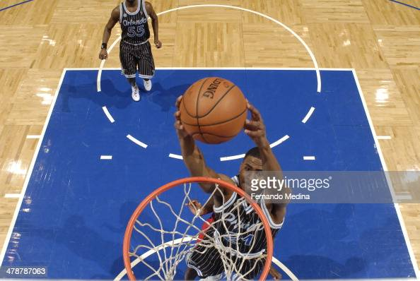 Maurice Harkless of the Orlando Magic dunks the ball against the Washington Wizards during the game on March 14 2014 at Amway Center in Orlando...