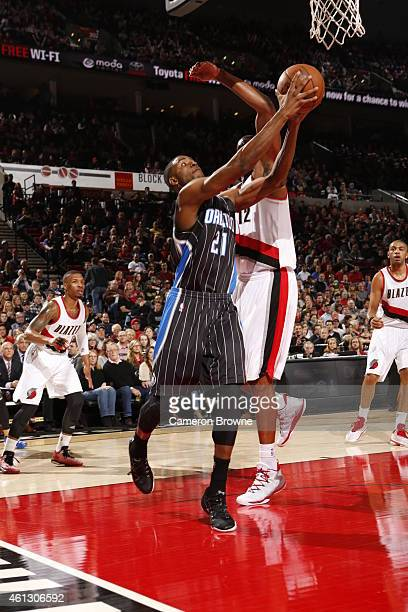Maurice Harkless of the Orlando Magic goes to the basket against the Portland Trail Blazers on January 10 2015 at the Moda Center in Portland Oregon...