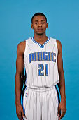 Maurice Harkless of the Orlando Magic poses for a photo during Orlando Media Day on September 29 2014 at Amway Center in Orlando Florida NOTE TO USER...