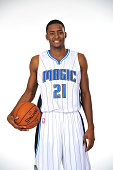 Maurice Harkless of the Orlando Magic poses for a portrait at Orlando Magic Media Day on September 29 2014 at Amway Center in Orlando Florida NOTE TO...