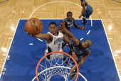 Maurice Harkless of the Orlando Magic shoots against the Minnesota Timberwolves on April 5 2014 at Amway Center in Orlando Florida NOTE TO USER User...