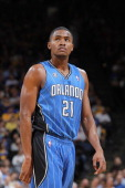 Maurice Harkless of the Orlando Magic while facing the Golden State Warriors on March 18 2014 at Oracle Arena in Oakland California NOTE TO USER User...