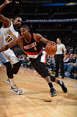 Maurice Harkless of the Portland Trail Blazers drives to the basket against the Denver Nuggetsduring the game on November 9 2015 at the Pepsi Center...