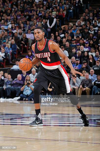 Maurice Harkless of the Portland Trail Blazers handles the ball against the Sacramento Kings on December 27 2015 at Sleep Train Arena in Sacramento...