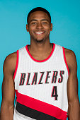 Maurice Harkless of the Portland Trail Blazers poses for a head shot during media day on September 28 2015 at the MODA Center Arena in Portland...