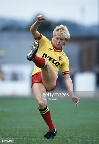 Maurice Johnston in action for Watford 15th September 1984